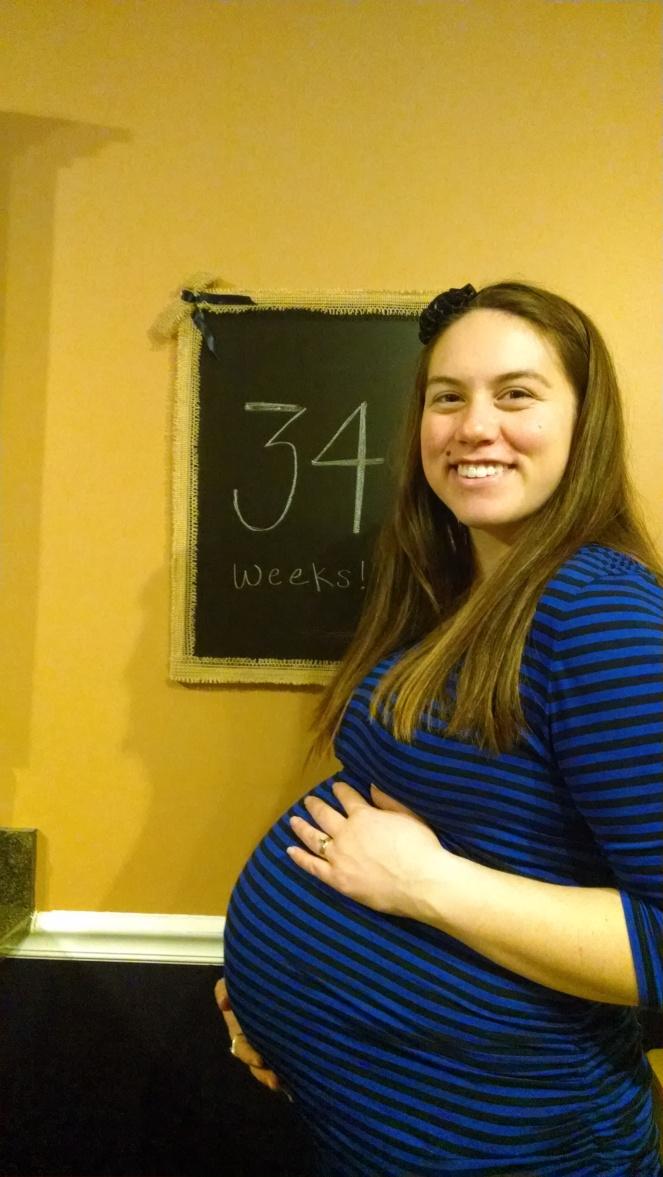 34 weeks, 6 days (oops!)